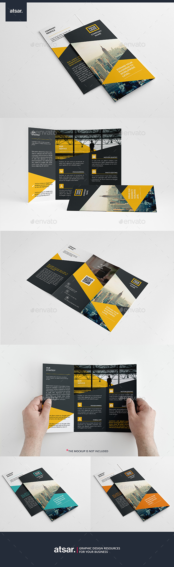 Futura Trifold Template - Corporate Brochures