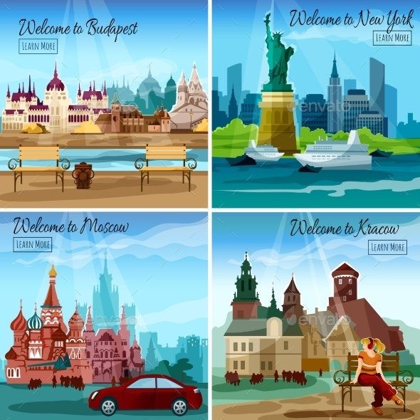 Famous Cities Set - Buildings Objects