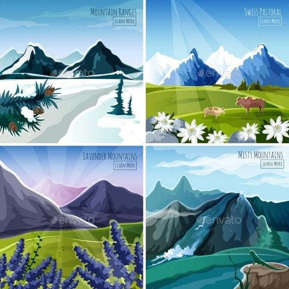 Mountain Landscapes Set - Landscapes Nature