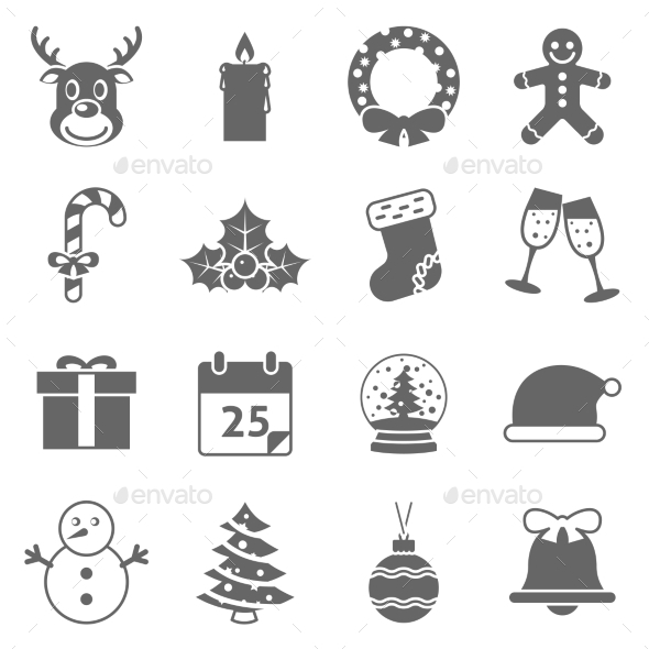 Christmas Holiday Icons - Seasonal Icons