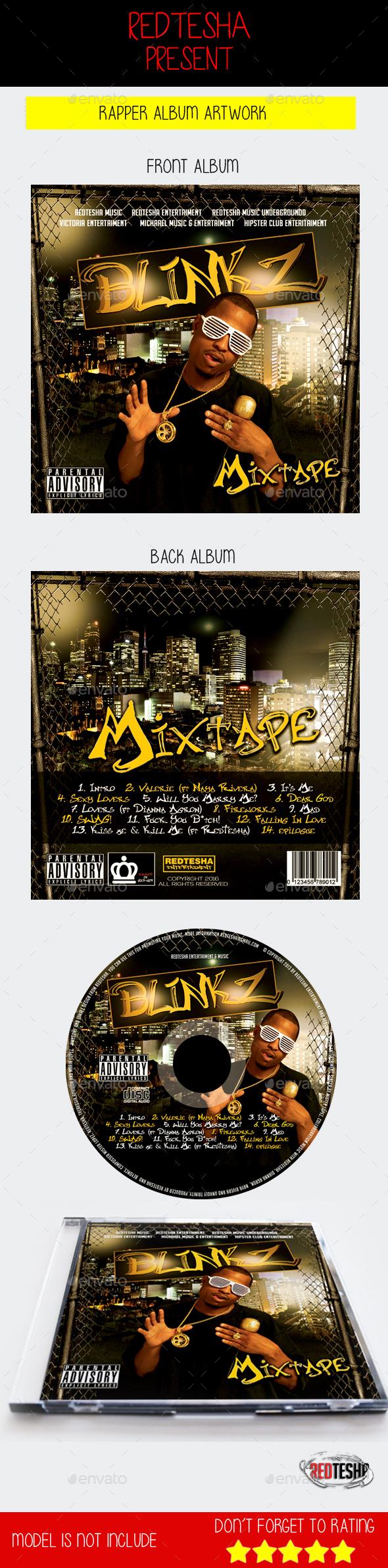 Blinkz Artwork PSD CD | Mixtape - CD & DVD Artwork Print Templates