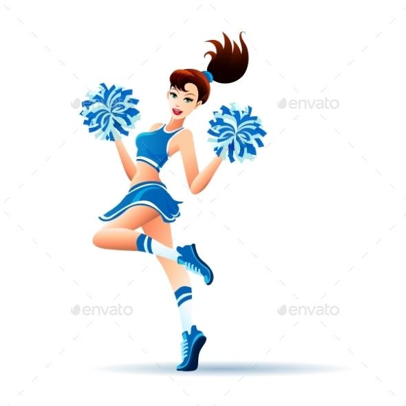 Dancing Cheerleader Girl - Sports/Activity Conceptual