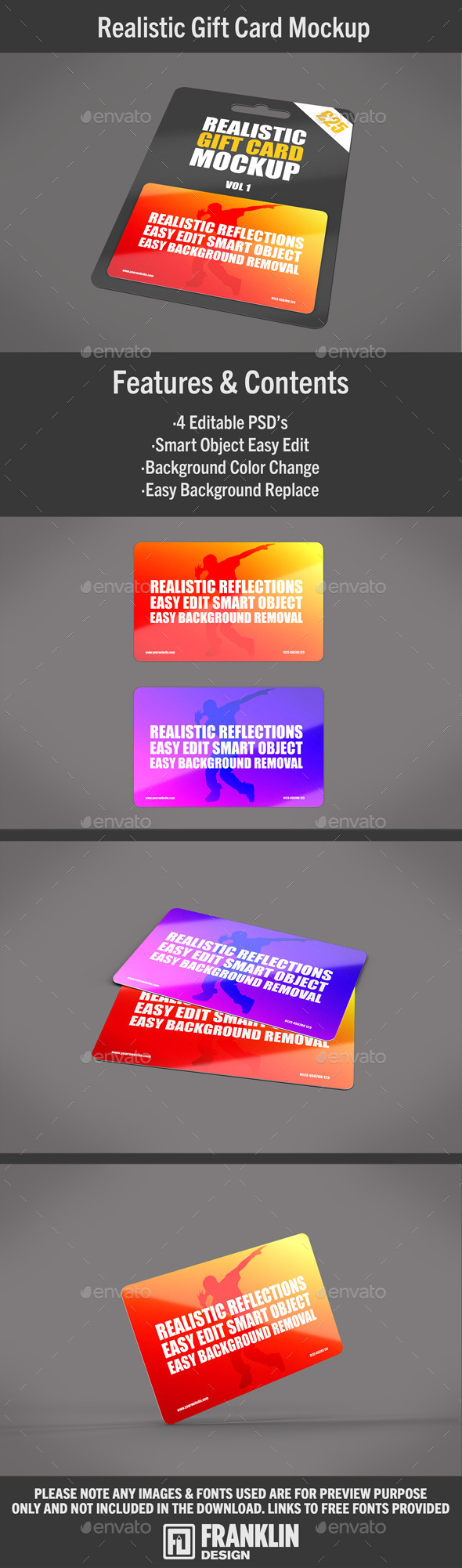 Plastic Card Mockup - Miscellaneous Print