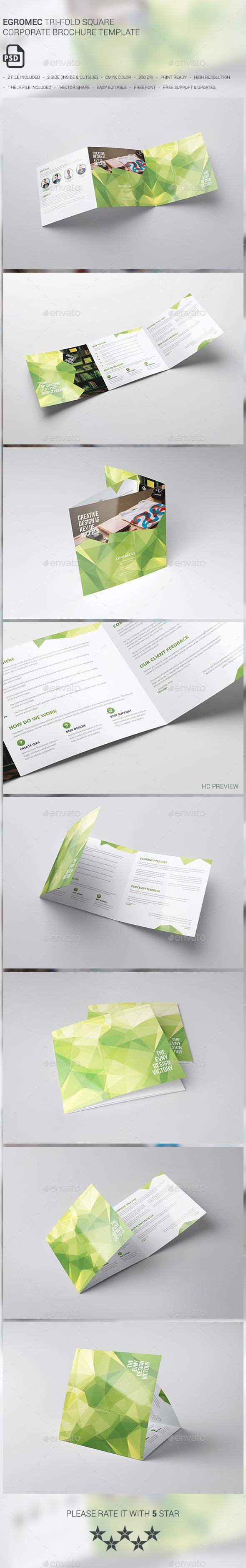 Egromec Square Tri-fold Brochure - Brochures Print Templates