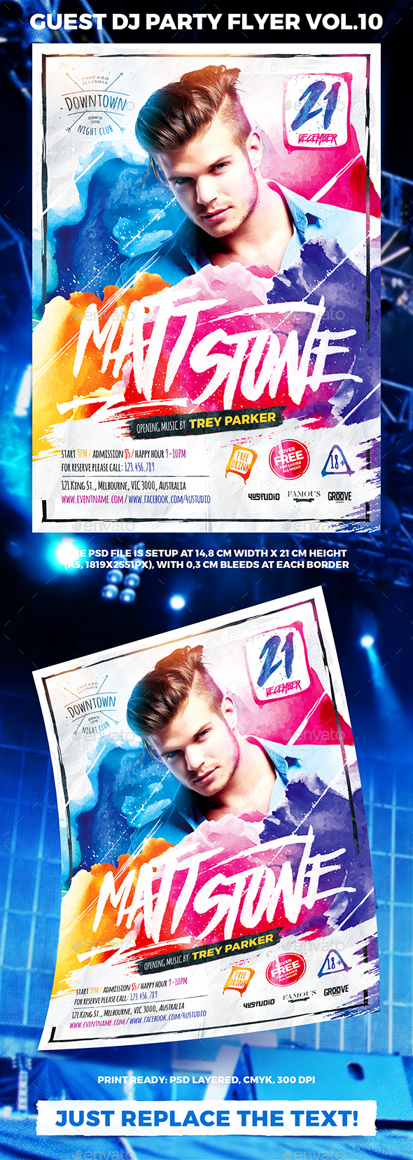 Guest DJ Party Flyer vol.10 - Events Flyers