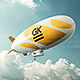 Realistic 3D Zeppelin Mock-ups / Dirigible Mock up  - GraphicRiver Item for Sale
