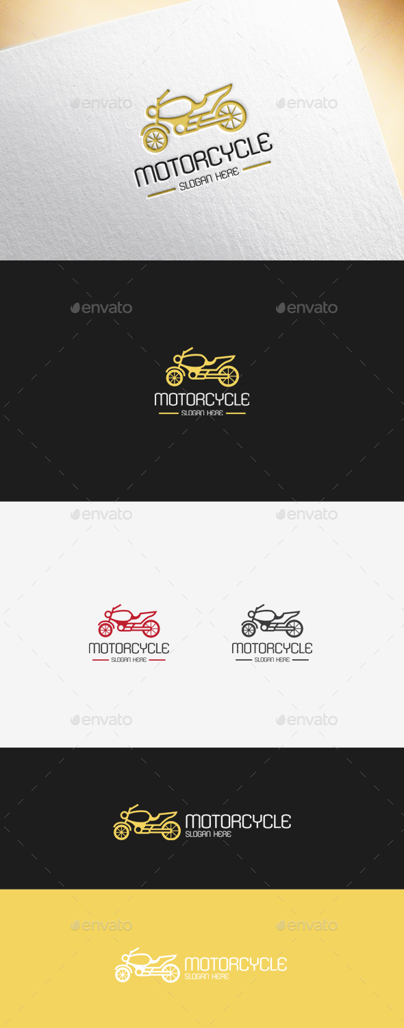 Motorcycle Logo Template - Objects Logo Templates
