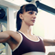 Cute Girl Training At Gym Sport Club - VideoHive Item for Sale