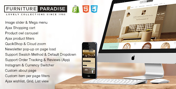 Furniture Paradise – A Resposive Shopify Theme