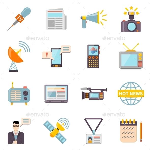 Mass Media Icons Set - Media Icons