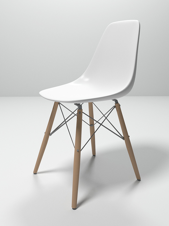 Eames plastic side chair - 3DOcean Item for Sale
