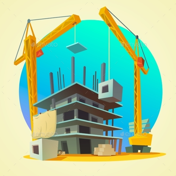 Construction Concept Cartoon - Buildings Objects