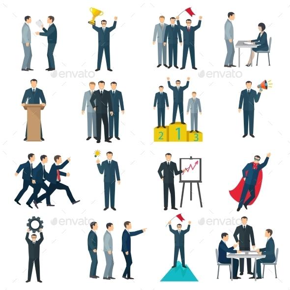 Leadership Flat Color Icons  - Decorative Symbols Decorative