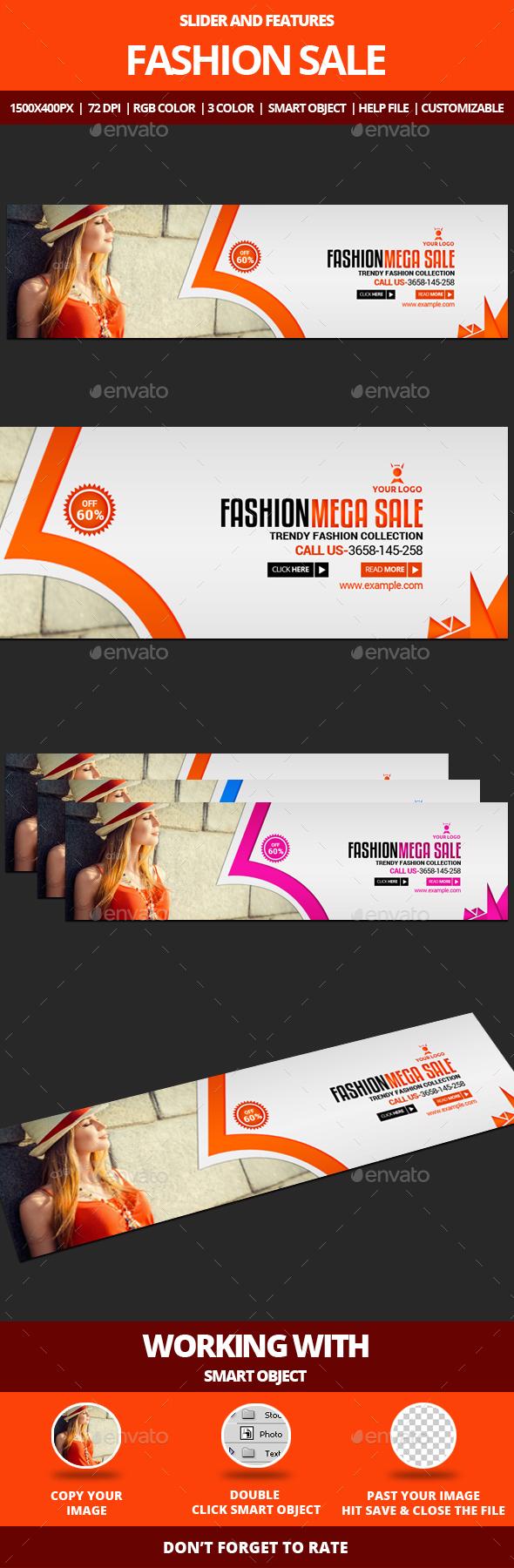 Fashion Sale Slider - Sliders & Features Web Elements