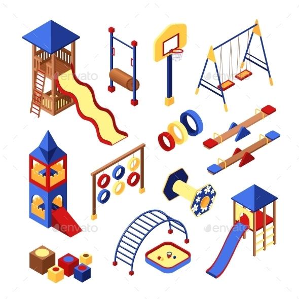 Playground Icons Set - Decorative Vectors