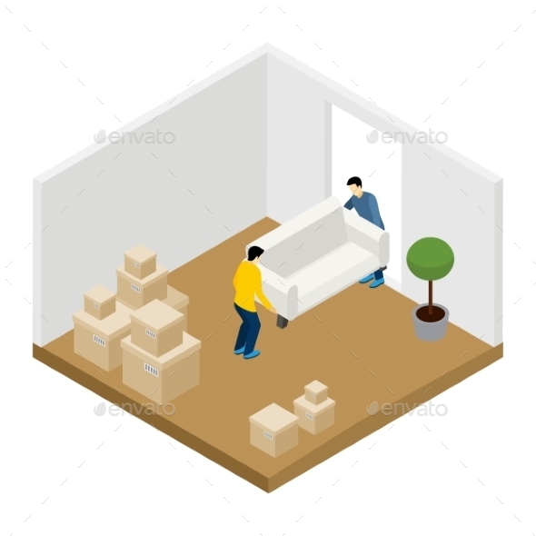 Moving In And Out Illustration  - Man-made Objects Objects