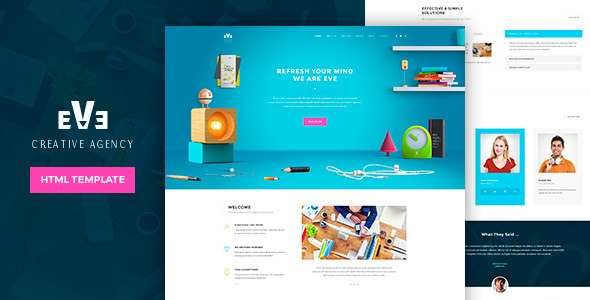 Eve Creative HTML Theme - Corporate Site Templates