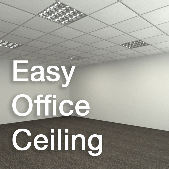Easy Office Ceiling By Stef3d 3docean