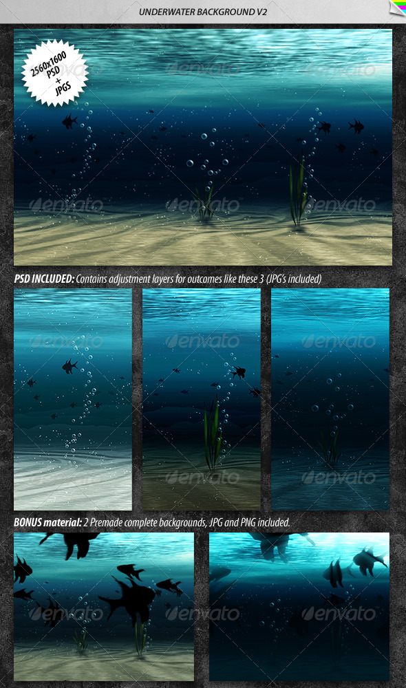 Underwater Background 2 - Nature Backgrounds