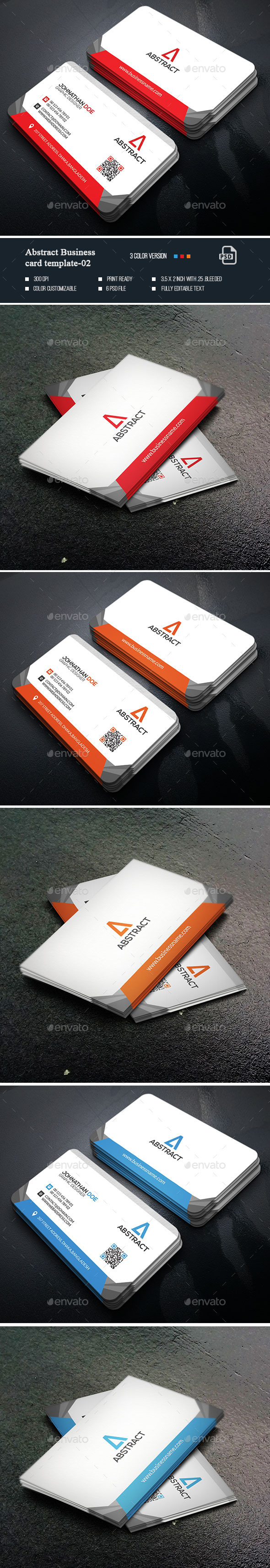 Abstract Business Card Templates-02 - Business Cards Print Templates