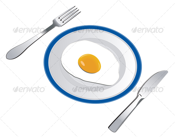 Fried egg - Food Objects