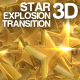 Star 3D Explosion Transition - VideoHive Item for Sale