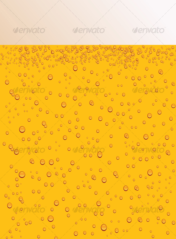 Bubbles in the beer glass - Backgrounds Decorative