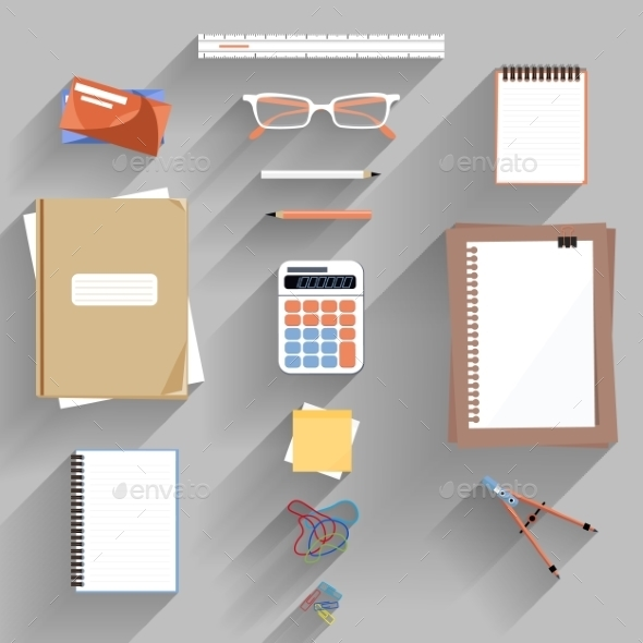 Calculator, Ruler And Paper - Concepts Business