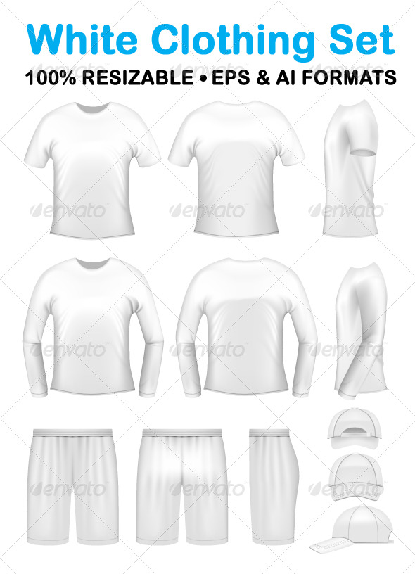 White men's clothing templates - Retail Commercial / Shopping