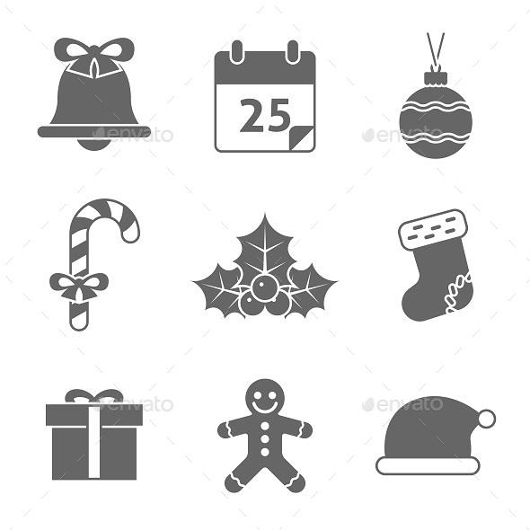 Christmas Icons Set - Seasonal Icons