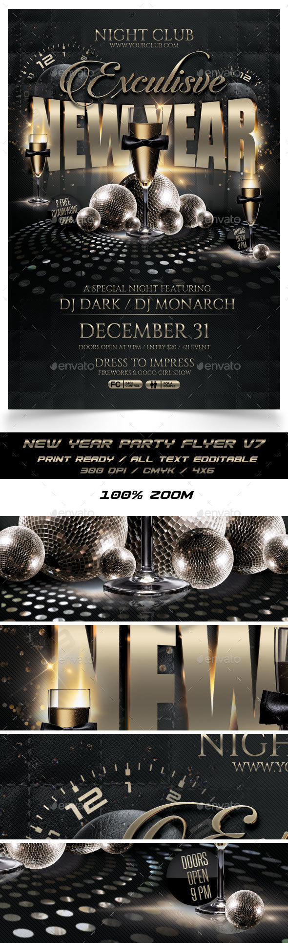New Year Party Flyer V7 - Events Flyers