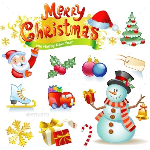 Christmas Icons Collection  - Christmas Seasons/Holidays