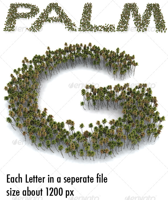 Palm Letters - Miscellaneous Graphics