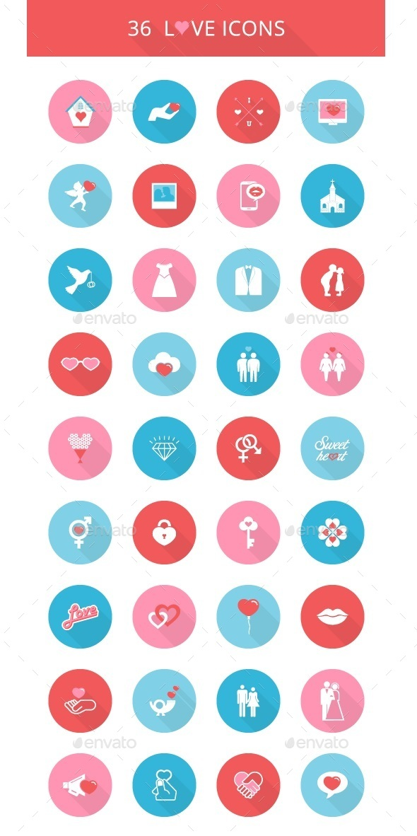 Round Love Icons - Icons