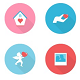 Round Love Icons - GraphicRiver Item for Sale