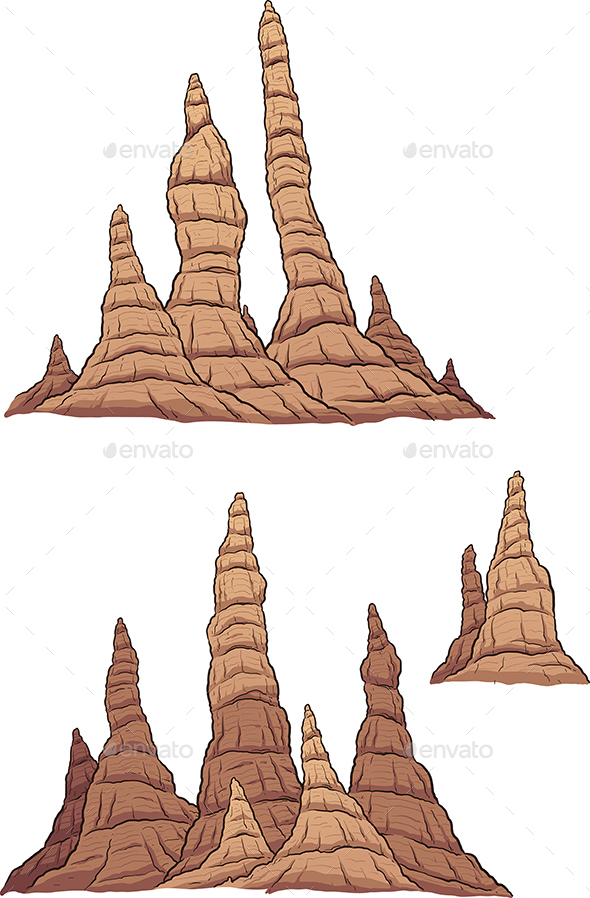 Cartoon Stalagmites - Organic Objects Objects