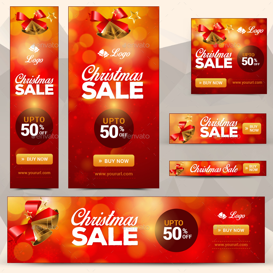 Christmas Sale Banners Bundle - 4 Sets by doto | GraphicRiver