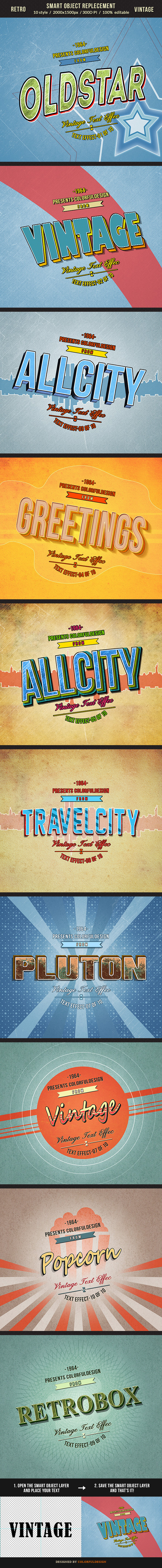 Retro Vintage Text Effects - Text Effects Actions
