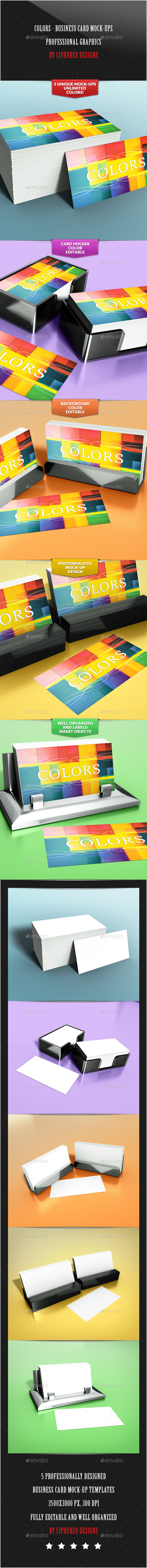 Colors - Business Card Mock-Ups - Business Cards Print