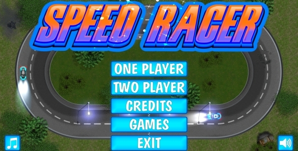 SPEED RACER - HTML5 Mobile Game in FULL HD + 3D + Android AdMob (Capx) - CodeCanyon Item for Sale