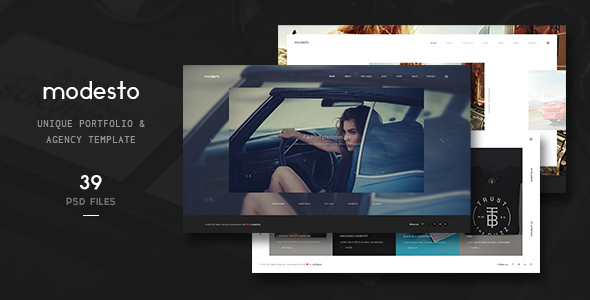 Modesto – Unique Portfolio & Agency Template
