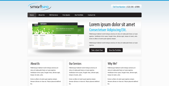 Smart Seo - A Simple Clean Elegant Corporate Theme - Corporate Site Templates