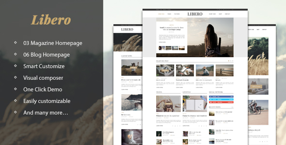 Libero – Simple, Elegant Magazine & Blog