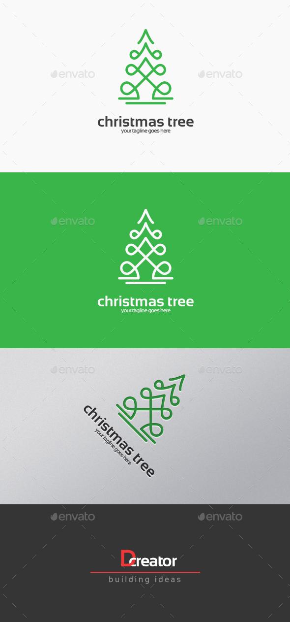 Christmas Tree Logo - Nature Logo Templates