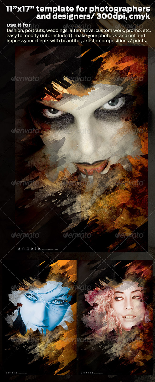 Poster Design Template for Pro Photographers 11x17 - Artistic Photo Templates
