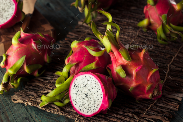 Raw Organic Dragon Fruit - Stock Photo - Images