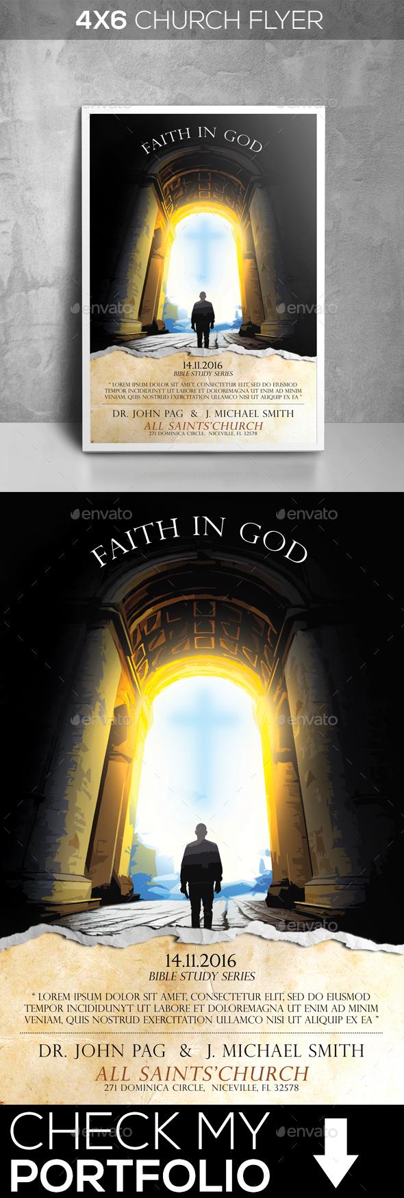 Faith In God - Church Flyers