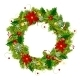 Christmas Wreath For Your Design - GraphicRiver Item for Sale