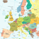 Europe  Map - Colored and Grid Illustration. - GraphicRiver Item for Sale