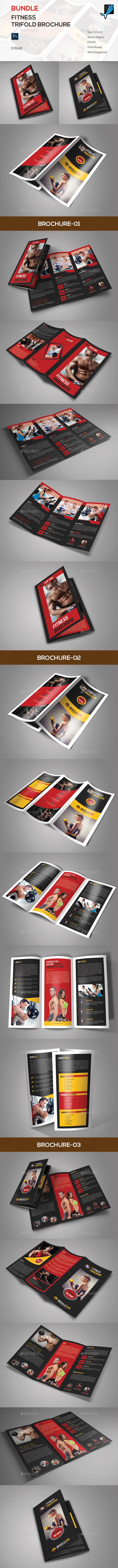 Fitness Trifold Brochure Bundle - Corporate Brochures